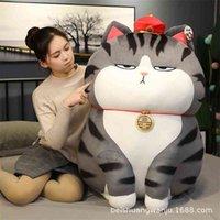 نسخة حقيقية من دمية الإمبراطور إمبراطور بلدي Wanshui بازار أسود أفخم دمية طويلة لايف القط وسادة هدية