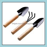 Tools Home & Gardenwooden Handle Metal Head Shovel Spade Flowers Potted Plants Mini Garden Tool Factory 3Pcs A Set Shovels Rake Sets Gwe8817