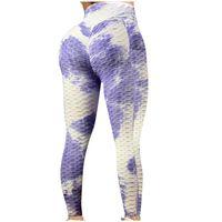 Women's Leggings Rainbow Print Women Sport Gym Exercise High Waist Fitness Elasticity Running Athletic Trousers Push Up Pants #G2