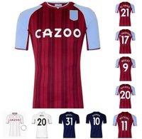 21 22 Buendia Aston Soccer Jerseys Villa 2021 2022 Inicio El Ghazi Traoré Grealish Wesley McGinn Watkins Kodja Sanson Targett Douglas Luiz Uniforme de Fútbol