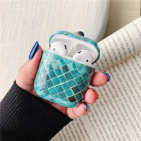Tail Scales Pattern Earphone Case for Airpods Soft Silicone Flexible Cases Cover Cute Shockproof Earphones protectors 97222