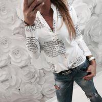 Camicette da donna Camicie 2021 Donna Ladies Casual Tops Camicetta a maniche lunghe Stampa stampa Business Business OL Playa BlusAS Femininas Elegante