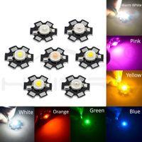 1 W de alta potência LED branco / morna chip branco miçangas lâmpada de lâmpada para luz diy com 20mm estrela PCB Platina Lighting interior