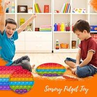 面白いレインボー減圧玩具洗濯ガイド3-4子供5-7フィンガーシリコンプッシュポップストレスリリーフ大人の子供の贈り物