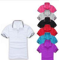 Primavera Luxo T-shirt Designer Polo CAMISETA Bordado High Street Bordado Printing Mens Marca Camisa Polo