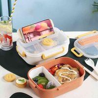 TUUTH BPA Lunch Lunch Microondas Recipiente De Alimentos Para Crianças Estudante Escola Bento Salada Caixas De Pequeno Almoço
