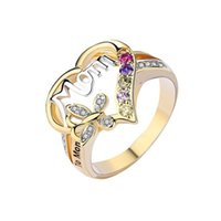 2021 Muttertag Ring Geschenk für Mama Briefe Ring Trendy Valentinstag Frauen Mädchen Geburtstag Festival Geschenk Ringe Geschenke Schmuck Newg30102