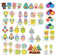 Antiestés antiestrese simple hoyuelo infantil fidget juguetes empuje burbuja pack bebé infantil Educación temprana Fidgets Firgsts Anheler juguete