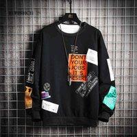 Sweats de hoode design Ruppshch Men Crewneck Sweatshirt Harajuku Surdimensuel Japonais Streetwear Hip Hip Hop Sweatshirts S