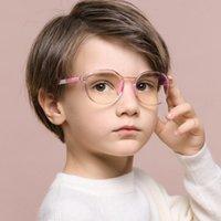 النظارات الشمسية 2021 مكافحة الضوء الأزرق أطفال نظارات الأطفال جولة البصرية إطار الفتيان الفتيات الكمبيوتر الهاتف المحمول شفافة النظارات uv400