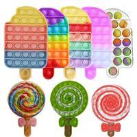 BBT001 Favor Lollipops Pop News and Exotic Fidget Toy for Decompression Push Bubble Sensory Toys Autism Special Needs Stress Reliever