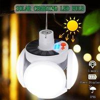 Edison2011 Solar Faltkupplung Camping Licht LED Wiederaufladbare Fußballlampe Laternen Nottlampe Outdoor Market Light Hängende Scheinwerfer