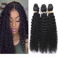 9A 브라질 처리되지 않은 처녀 자연스러운 검은 색 변태 곱슬 인간의 머리카락 번들 공장 직접 공급