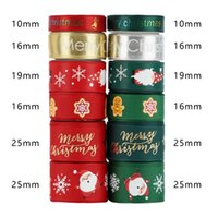 Holiday Christmas Grosgrain Ribbon Set for Xmas Gift Box Package Wrapping Hair Bow Clip Accessory Making Crafting DIY Craft 12*3yd