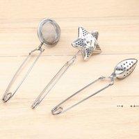 3 Style Star shape Tea Infuser oval-Shaped 304 Stainless Steel Tea strainer Infuser Spoon Filter Tea Tools GWB10491