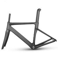 Bisiklet Çerçeveleri MTB Karbon Fiber Yol Çerçevesi Mekanik Bisiklet Çerçevesi + Çatal + Seatpost + Kulaklık