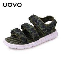 Уово летние детские сандалии мальчики и девочки горки детские летние пляжные сандалии новые прибытия маленькая детская обувь EUR размер # 25-37 210306