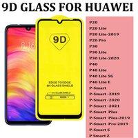 Para Huawei P20 Lite 2019 Pro P30 Lite Pro 2020 P40 Lite 5G E P SMART 2021 PLUS P SMART S Z 9D CUBIERTE COMPLETO Pantalla de vidrio templado Protector