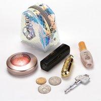 Wallets CUIKCA Laser Symphony Fishscale Women's Wallet PVC Transparent Zipper Keychain Makeup Change Storage Bag Purse