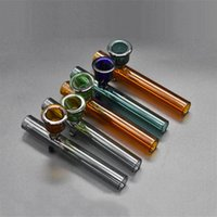 LABS Glass Sherlock Pocket Bubbler spoon Pipes Heavy Wall dry herb oil Pipe with big tobacco bowl 2pcs