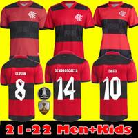 2021 Camisa Flamengo Futbol Formaları 2022 Camisetas De Fútbol Gabriel B. Diego 21 22 Pedro De Arrascaetao Erkek Kadın Çocuk Kiti Futbol Gömlek