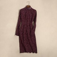 Casual Dresses Kate Middleton Princess England Dress Lace Crochet Hollow Out Slim Long Sleeve Elegant Party Fashion Office Lady