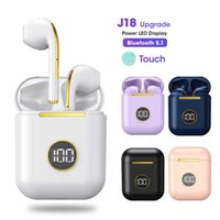 J18 Upgrade Tws Bluetooth 5.1 Earphone Charging Box Wireless Headphone Stereo Earbuds Headset with Microphone for Ios android