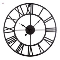 Wall Clocks Retro Simple Living Room Clock Vintage Creative Roman Numerals Hanging Watch For Home Bedroom Dormitory Decorations Timing