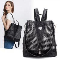 Outdoor Bags 2021 Women Backpack Shoulder Bag High Quality Cowhide PU Leather Backpacks For Teenage Girls Female Travel Bagpack Plecak Damsk