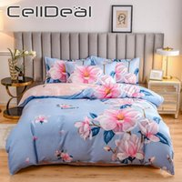 Bedding Sets 4pcs Chinese Style Printed Cotton Quilt Cover Pillow Case Bed Sheet Soft Breathable Single Double King Queen Set Oceania
