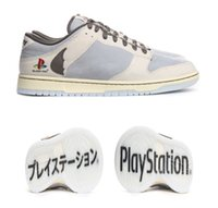 2021 релиз аутентичные ботинки PS5 Dunk Travis Scott PlayStation SB 5 мужчин Женщины открытый Низкий скейтборд Спортивные кроссовки с коробкой