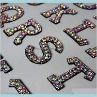 A-Z Rhinestone Английский алфавит Письмо аппликации 3D железо на буквах Патч для одежды Badge Paste для одежды сумка обувь BCPXK Jub0i