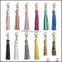 Fashion Aessoriespu Leather Tassel Keychains Metal Holder With Lobster Swivel Jewelry Charm For Handbag Phone Car Key Drop Delivery 2021 Xtl