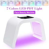 7 couleurs PDT LED VISAGE photodynamique photon lumière thérapie masque cutané serrant beauté machine masque facial anti-âge pour l'acné arrière