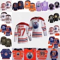 2021 إدمونتون زيتي هوكي الجليد جيرسي ماكدافيد ليون درايسيتل نوجنت هوبكنز Gretzky ممرضة الدب ياماموتو أرخيبالد باري بوتشارد تشياسون