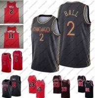 2 Lonzo Ball Basketball Jersey Zach 8 Lavine 1 Derrick Rose 11 Demar Demar Derozan Jerseys Mens 23 MJ Dennis 91 Rodman Scottie 33 Pippen Rouge Blanc Blanc Tableau S-XXL