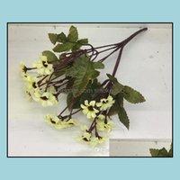 Decoratieve bloemen kransen feestelijke feestartikelen tuin24 hoofden / boeket lente mooie daisy zijde samll zonnebloem woondecoratie po rekwisieten