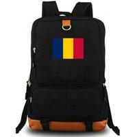 حقيبة الظهر تشاد ن دي جامينا العلم المدرسية TCD البلد راية رافضة حقيبة مدرسية حقيبة كمبيوتر محمول