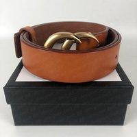 Высококачественные женские мужчины дизайнеры ремни мода пряжка натуральный кожаный пояс 7 стилей Cinturones de diseño mujeres ширина 3,8см с коробкой