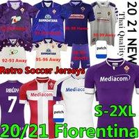 Retro ACF Fiorentina Soccer Jerseys Batistuta Rui Costa 1992 93 95 96 98 99 2000 Vestiti da calcio 20 21 Camicie da calcio Ribéry Men Kit Kit