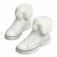 Hiver coréen style extérieur femmes chevilles bottines de neige dame peluche patchwork cross noteux bottes équestres courtes bottes équestres 1001110 g5ic #