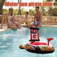 Life Vest & Buoy Kids Inflatable Swimming Ring Baby Toddler Swim Seat Pirate Ship Float Circle Automatic Pumping Water Gun Pool