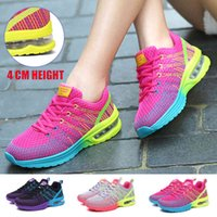 Tennis shoes Women Shoes Air cushions 4Cm Height Mesh Sports Sneakers For Fitness Breathing Hiking Trainers 0916