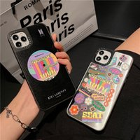 Graffiti Music Mirror Case for iPhone 12 Mini 11 Pro Max XR XS 6s 7 8 Plus Full Protective Sturdy Dynamite Back Cover Shockproof