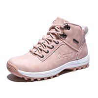 Designer Boots 2021 Winter Outdoor Plush Warm Snow For Women PU Leather Waterproof Shoes Pink Fashion Ankle Woman