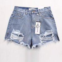Fashion Summer Denim Womens Shorts Sexy BuRipped Jean Short Fringe High Waisted For Women Cool Hole Jeans