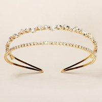 Hair Clips & Barrettes Rhinestone Inlaid Hairbands Double Row Elegant Bridal Hoop Wedding Accessories For Birthday Christmas Day Gift JL