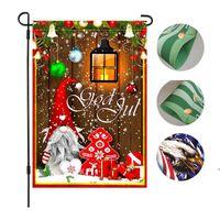 크리스마스 산타 배너 가정용 잡화 실내 야외 매달려 플래그 홈 클로스 장식 정원 장식 린넨 양면 OWF9008