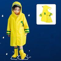 أطفال المطر معطف الحيوان ديناصور نمط الأطفال للماء المعطف المطر داخلية للجنسين الكرتون الاطفال المعطف الطفل المطر والعتاد ZYC37