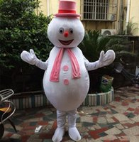 Halloween Snowman Mascot Costume High Quality customize Cartoon Anime theme character Adult Size Christmas Birthday Party Fancy Outfit